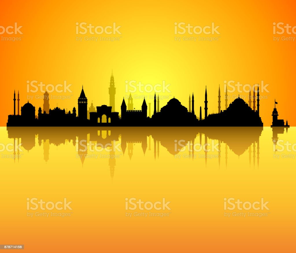 Istanbul (All Buildings Are Complete and Moveable) vector art illustration