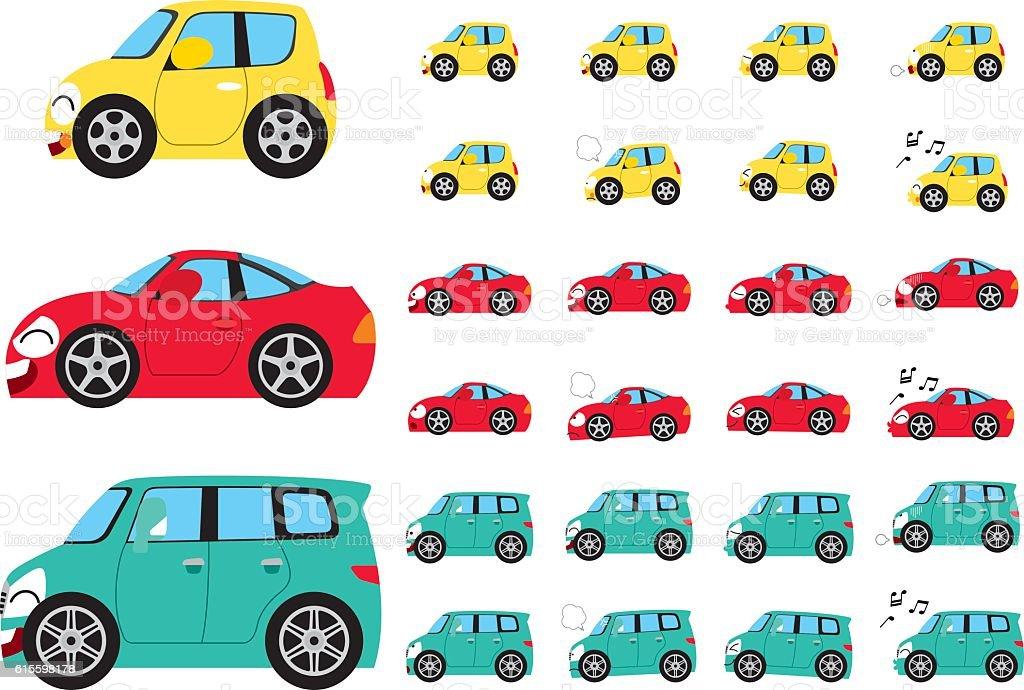 It deformed the car01 vector art illustration