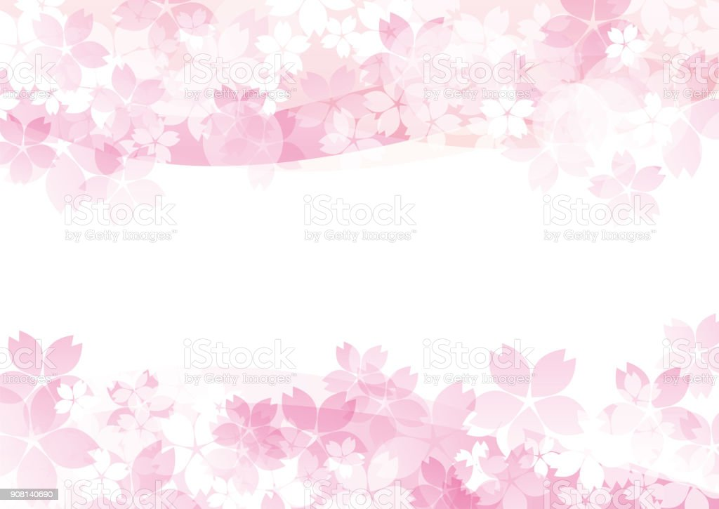 Es ist eine schöne Sakur in Japan – Vektorgrafik