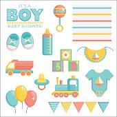 It is a boy baby shower set