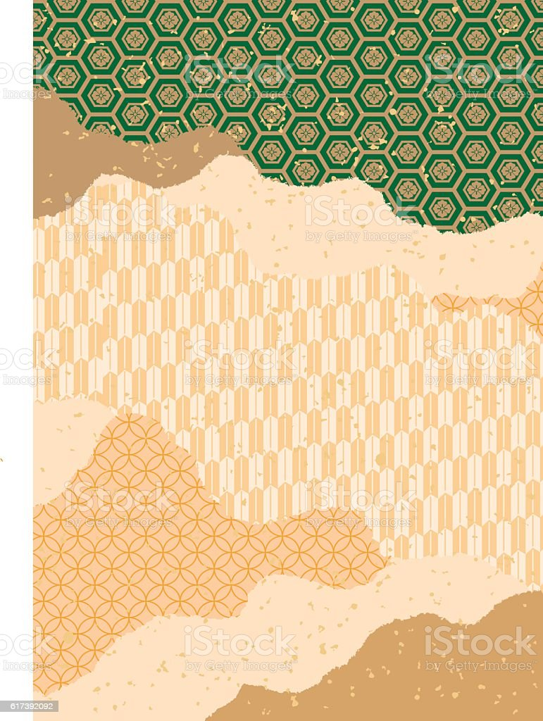 It is a traditional pattern of Japan. ベクターアートイラスト
