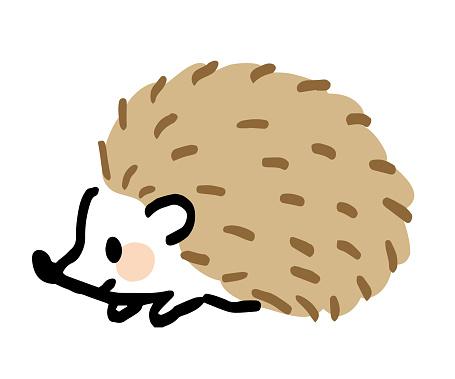 It is an illustration of a sideways hedgehog.