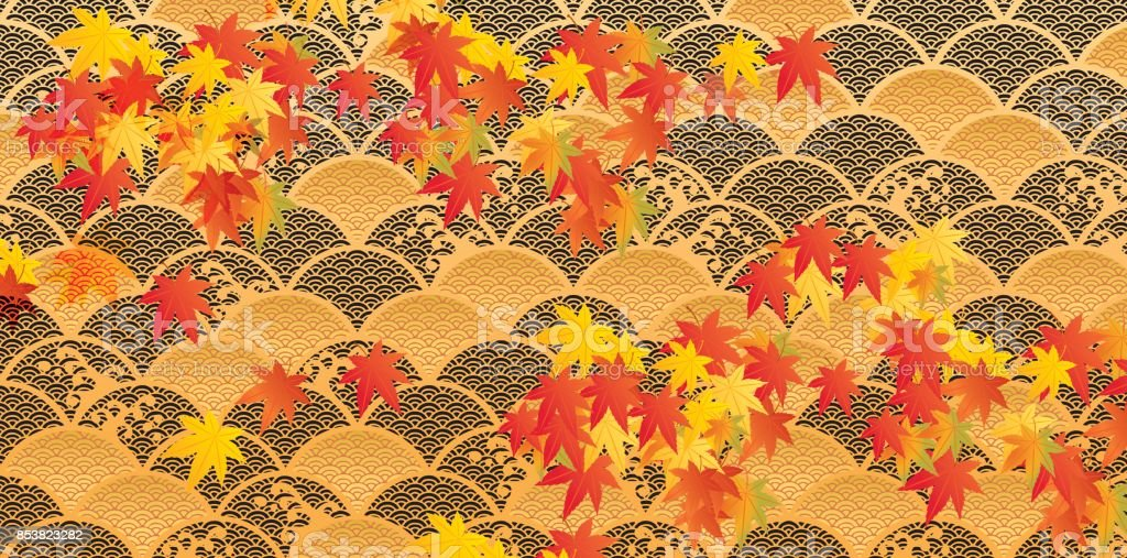 It is an illustration of autumnal leaves vector art illustration