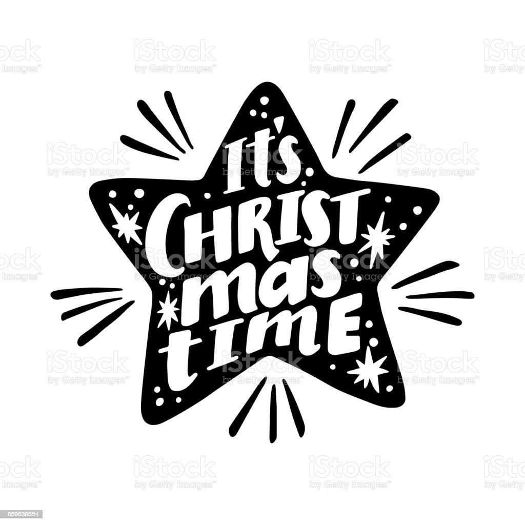It is christmas time quote vector text for design greeting cards it is christmas time quote vector text for design greeting cards photo overlays kristyandbryce Choice Image