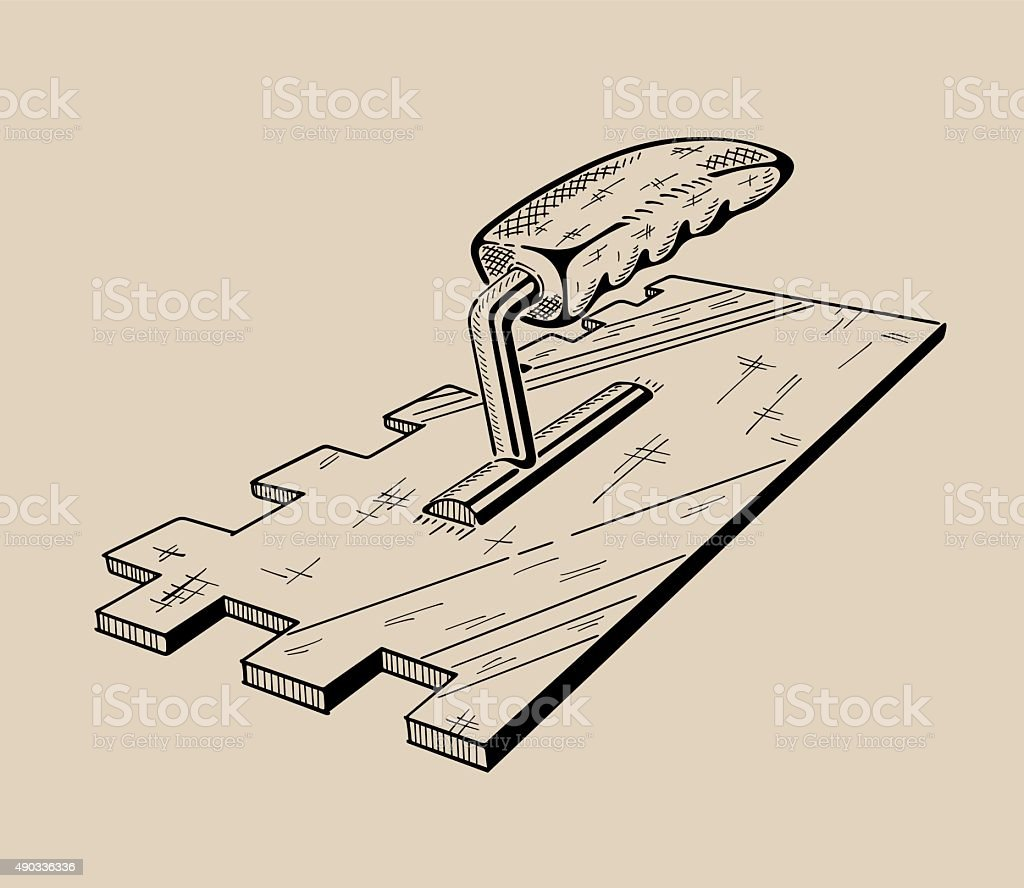 It is monochrome vector illustration of ladder vector art illustration