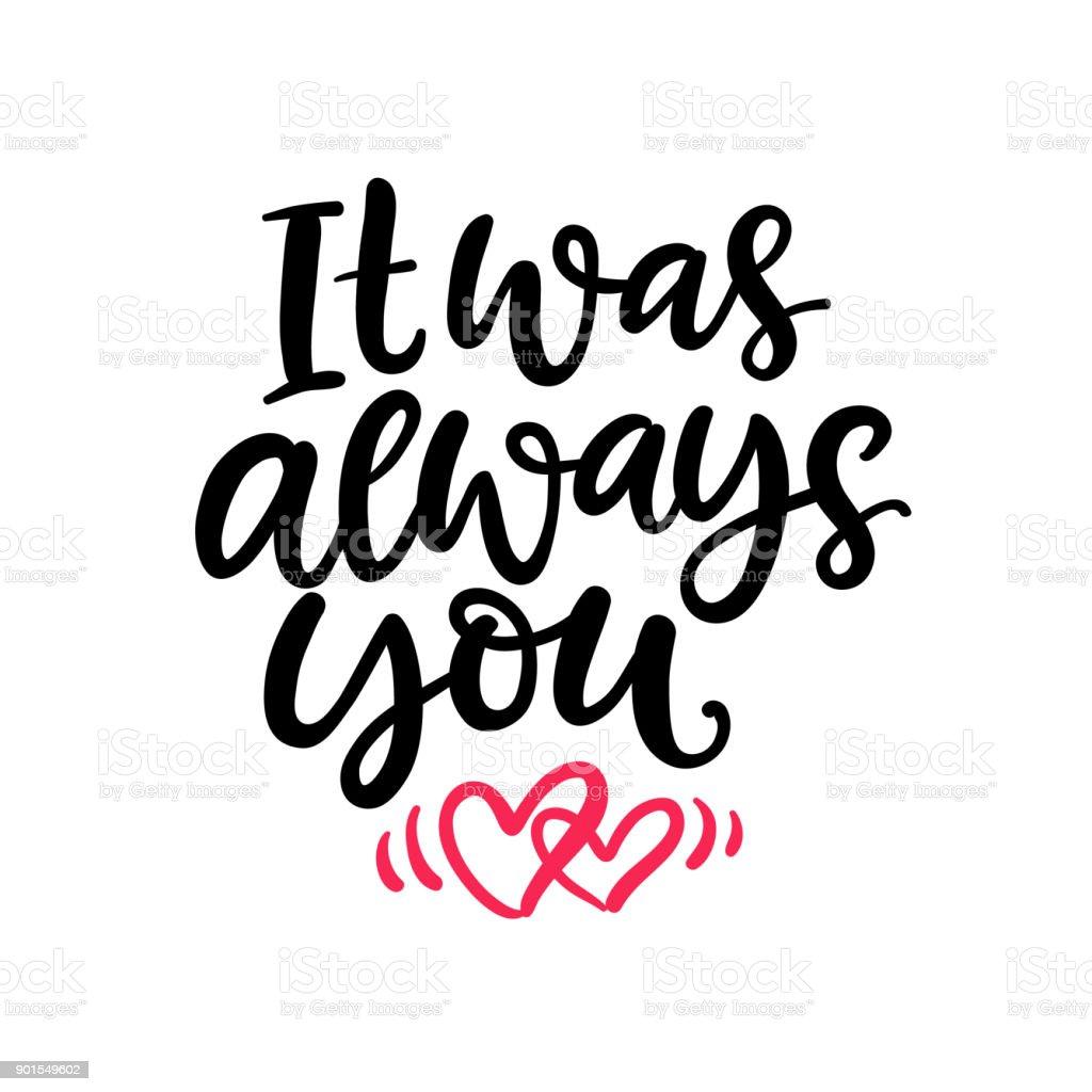 Sie Waren Immer Handgeschriebenen Schriftzug Für Valentinstag ...