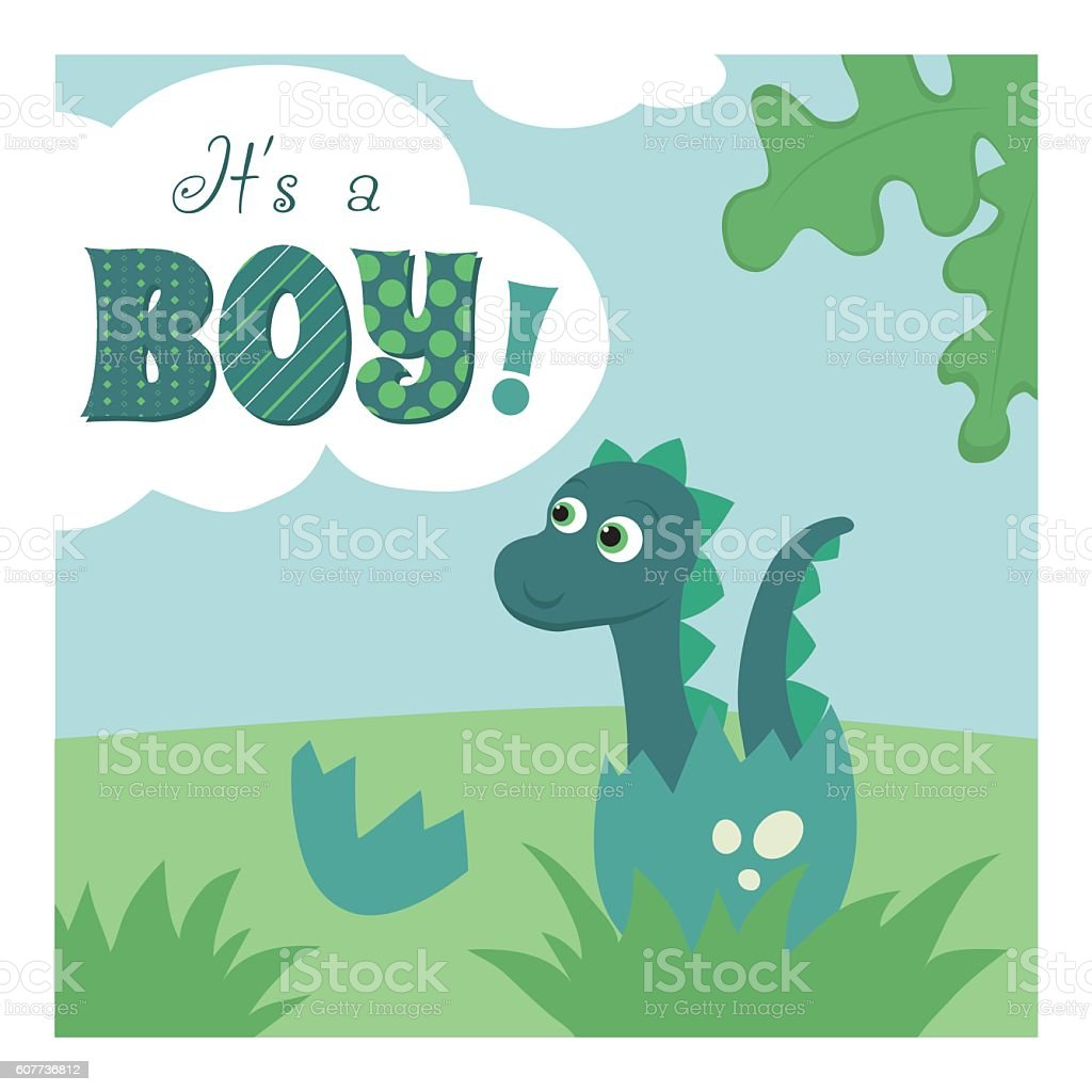 ita a boy newborn baby card template it s a boyのベクターアート