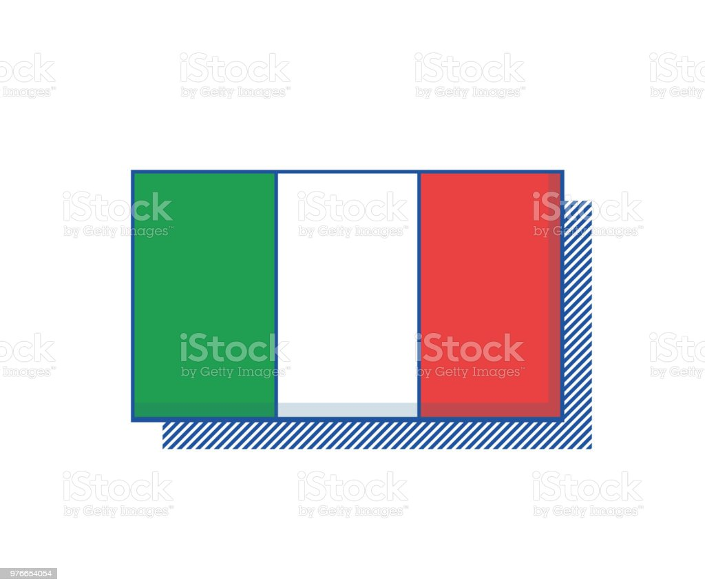 1278ef7339 Vector de la bandera de Italia. Diseño de moda ilustración de vector de la  bandera