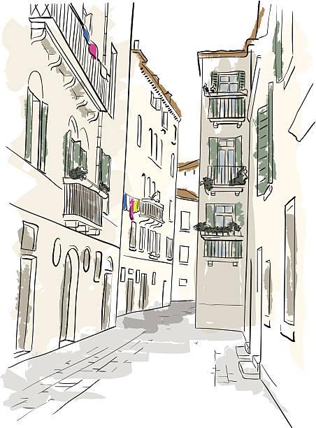 bildbanksillustrationer, clip art samt tecknat material och ikoner med italian alley - gränd