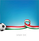 italian and mexican flag with soccer ball