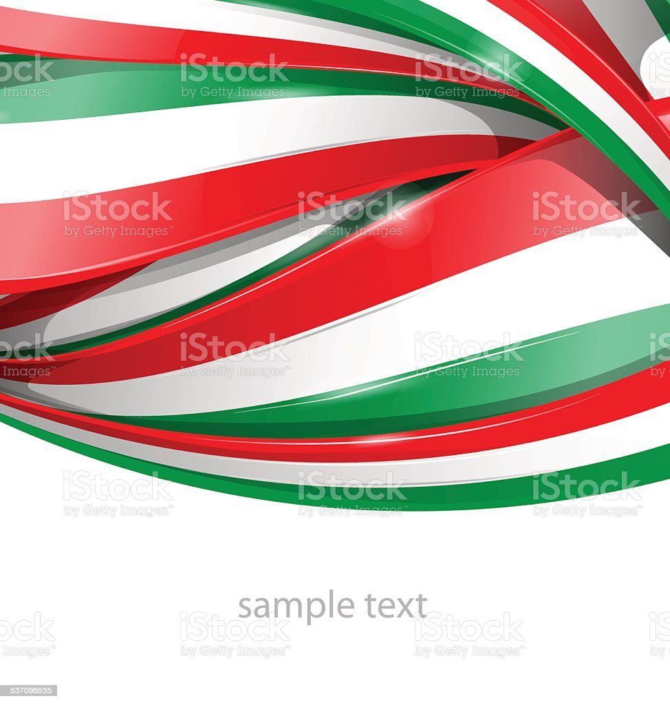 Italian and mexican vector art illustration