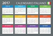 Italian Calendar 2017 / Calendario Italiano 2017