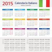 Italian Calendar / Calendario Italiano 2015 - Illustration