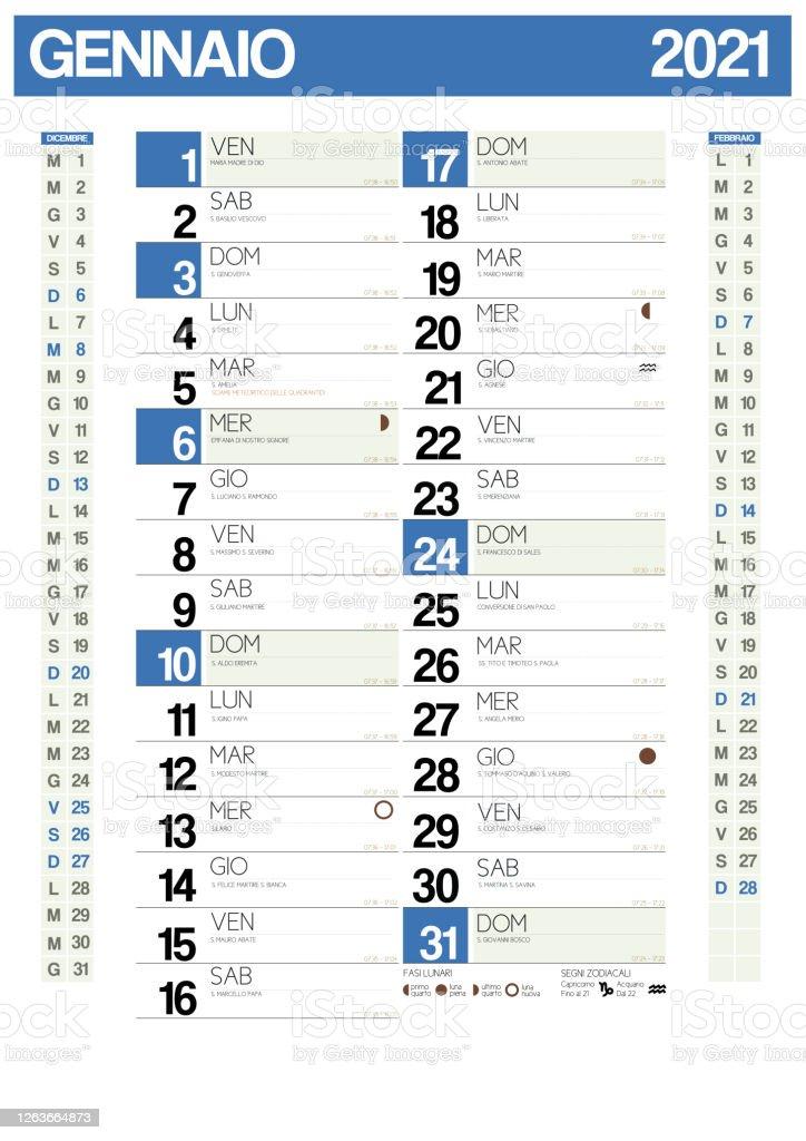 Calendrier Italien 2021 Avec Vacances Italiennes Zodiac Saints