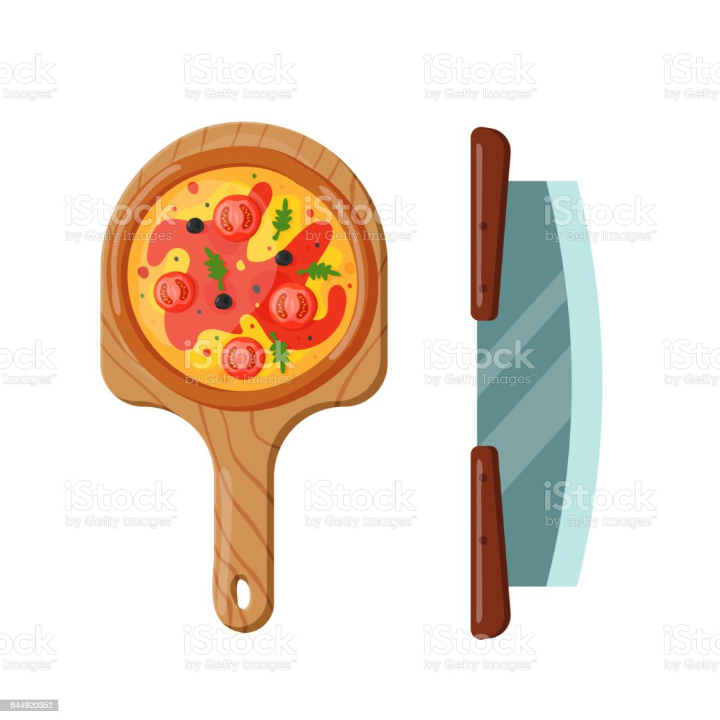 Italian cook pizza icon vector illustration vector art illustration
