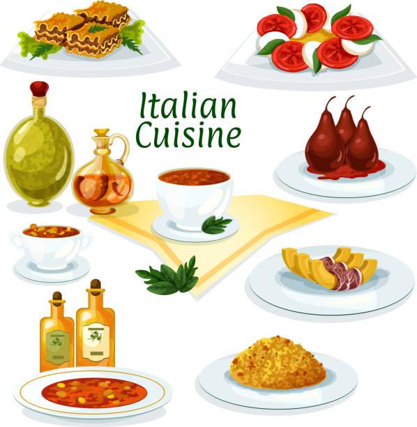 illustrations, cliparts, dessins animés et icônes de icône de dessin animé de cuisine italienne pour le design du restaurant - risotto