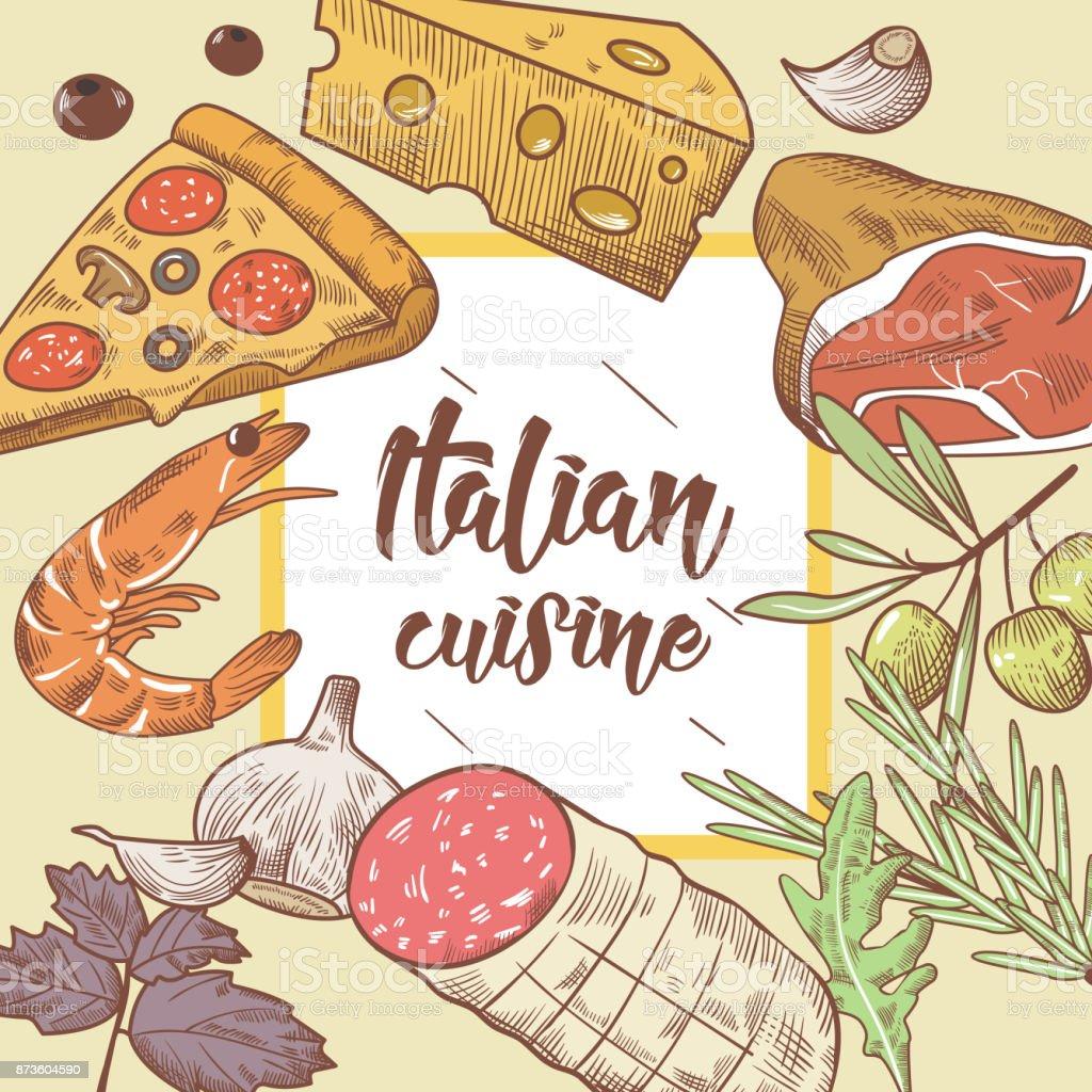 Ilustración de Plantilla De Diseño De Menú De Alimentos De Cocina ...