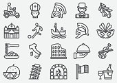 Italian Culture Line Icons