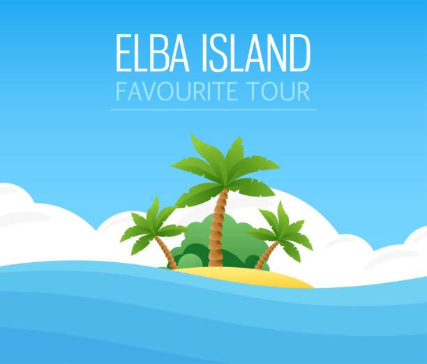 bildbanksillustrationer, clip art samt tecknat material och ikoner med italienska elba island - ö