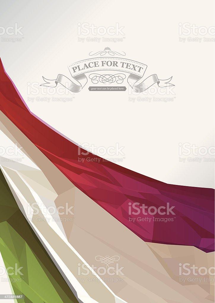 italian flag background vector art illustration