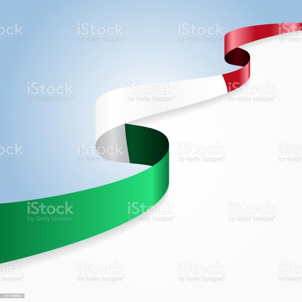 Italian flag background. Vector illustration vector art illustration