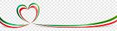 istock Italian flag heart shaped ribbon banner on transparent background 1263033910