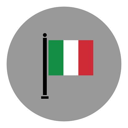 Italian flag illustration. Vector flat icon