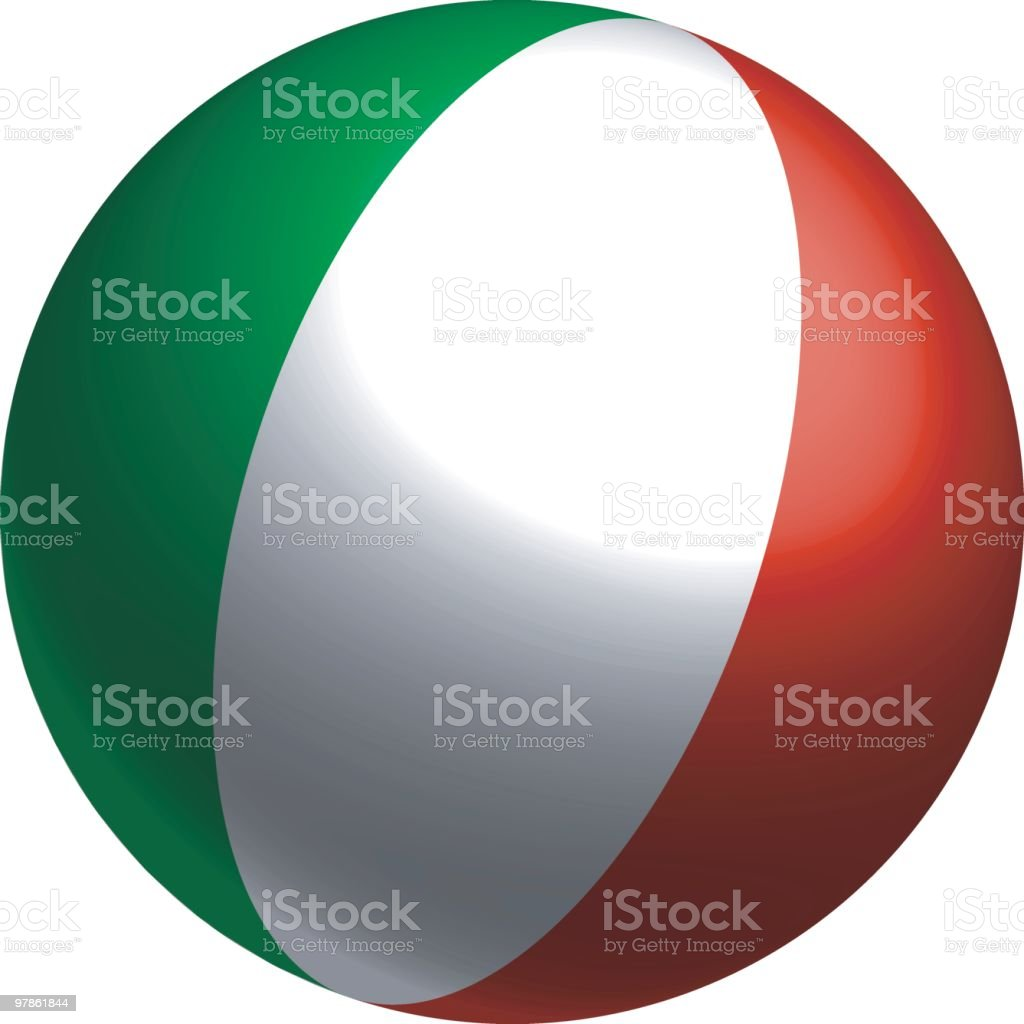 Italian Flag in the round (vector) royalty-free stock vector art