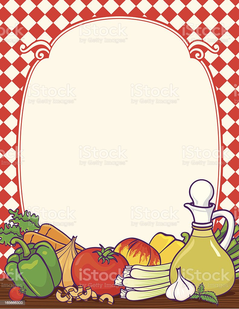 Italian Food Border Stock Vector Art & More Images of Backgrounds ...