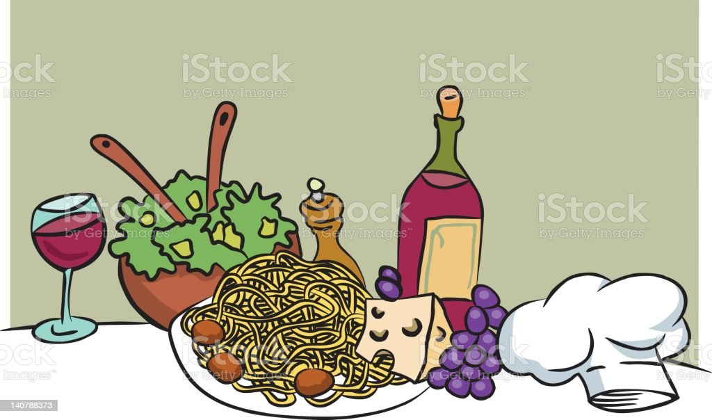 italian food cartoon vector royalty-free stock vector art