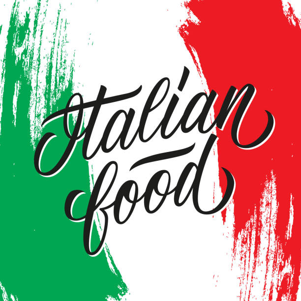 illustrazioni stock, clip art, cartoni animati e icone di tendenza di italian food handwritten inscription. creative typography for italian restaurant menu, cafe, food market. - panettone