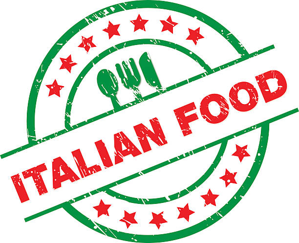 Italian Food Label vector art illustration