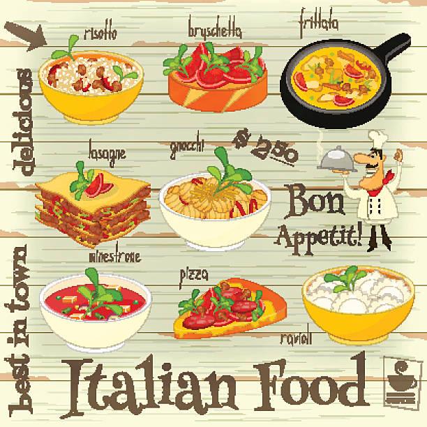 illustrations, cliparts, dessins animés et icônes de cuisine italienne à la carte - risotto