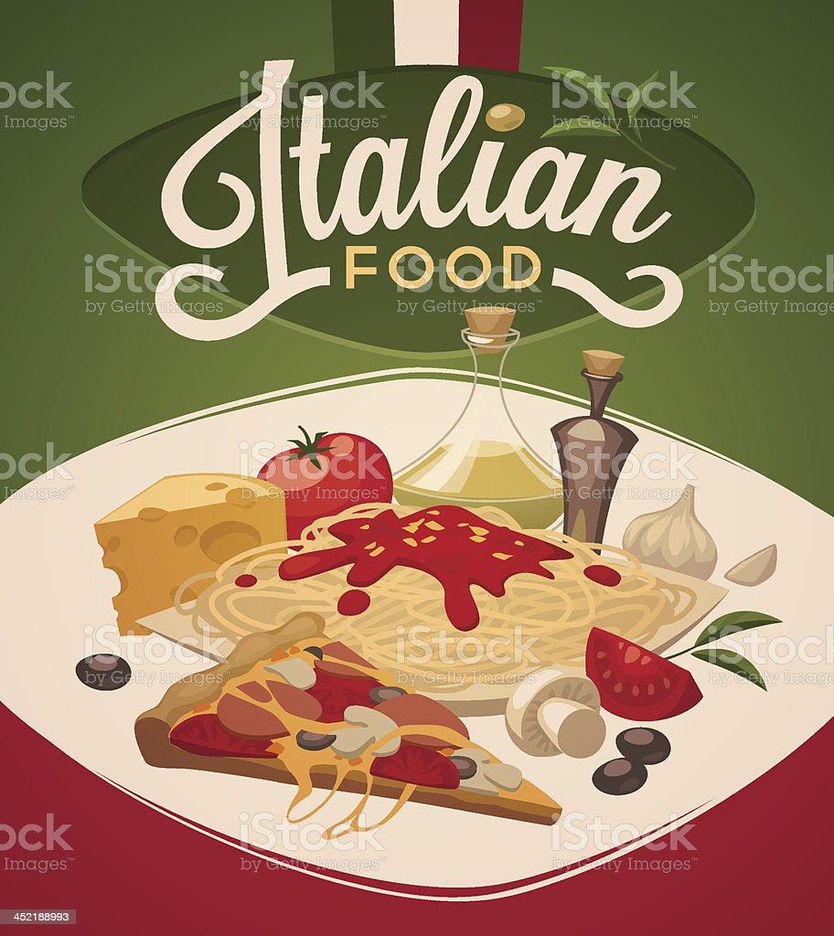 Italian food. Vector background vector art illustration