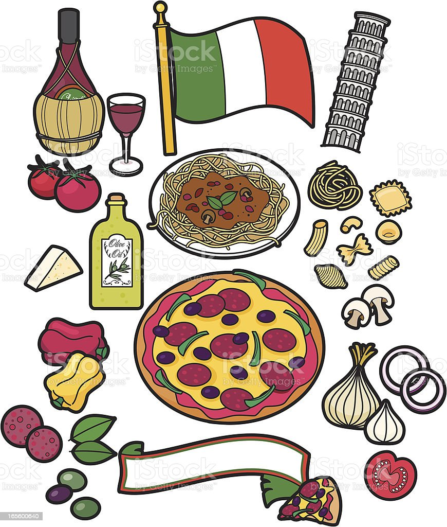Italian food royalty-free italian food stock vector art & more images of bolognese sauce