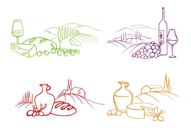 イタリア料理 - スペイン料理点のイラスト素材/クリップアート素材/マンガ素材/アイコン素材