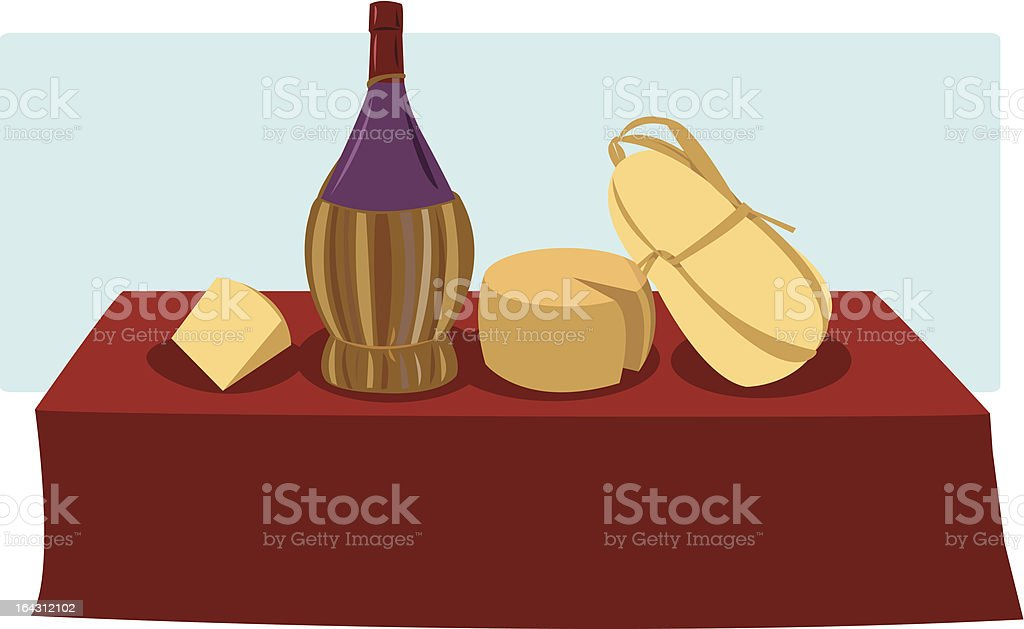 Italian food & Wine royalty-free stock vector art