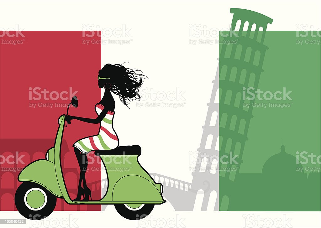 Italian Girl royalty-free stock vector art