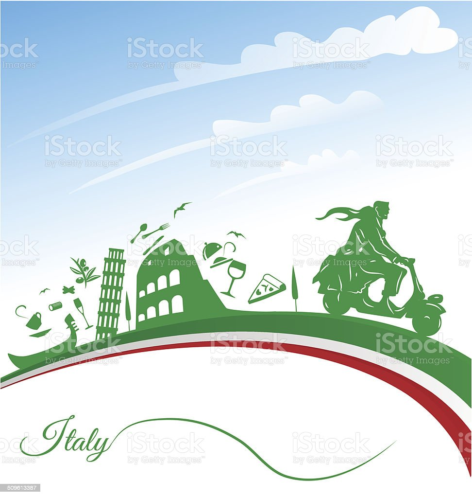Italian holidays background vector art illustration