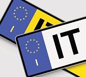 Italian Licence Plates