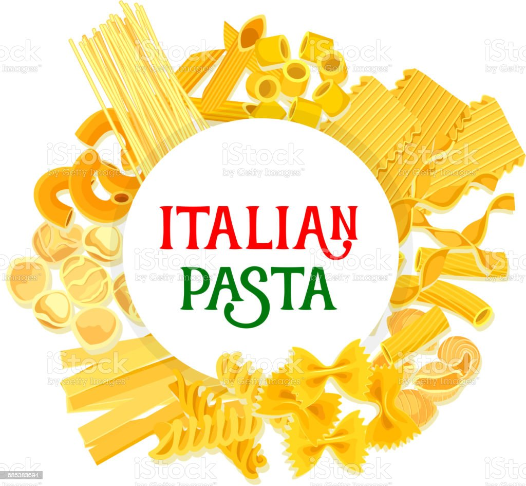 Italian pasta and spaghetti vector poster royalty-free italian pasta and spaghetti vector poster stock vector art & more images of bow tie pasta