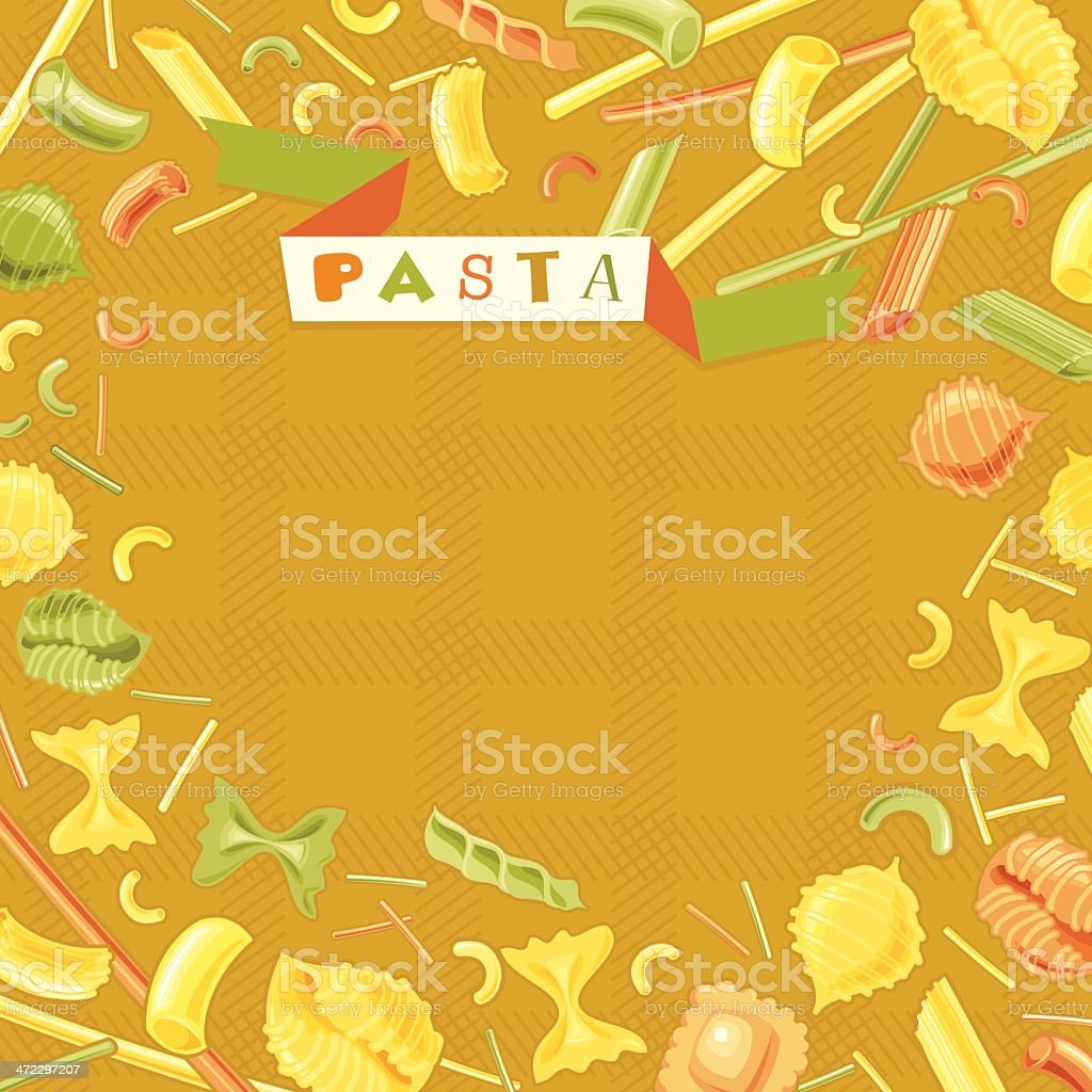 Italian Pasta Background royalty-free italian pasta background stock vector art & more images of backgrounds