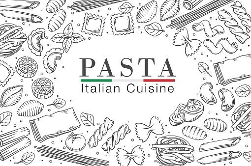 Italian pasta or macaroni frame