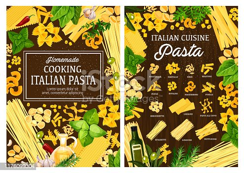 istock Italian pasta restaurant, homemade cooking recipe 1176099304