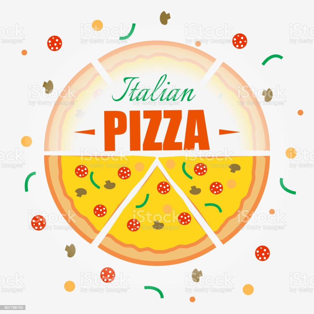 Ilustración de Fondo De Diseño De Pizza Italiana Fondo De Vector ...
