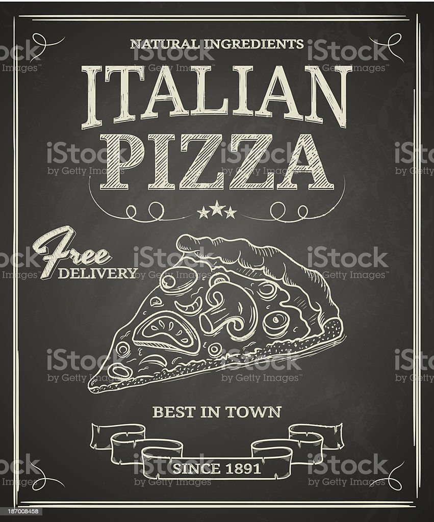 Italian Pizza Poster vector art illustration