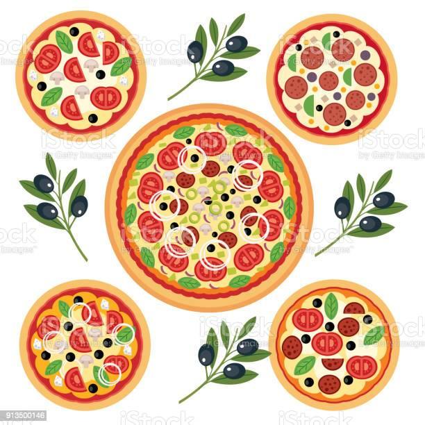 Italian Pizza - Immagini vettoriali stock e altre immagini di Architettura