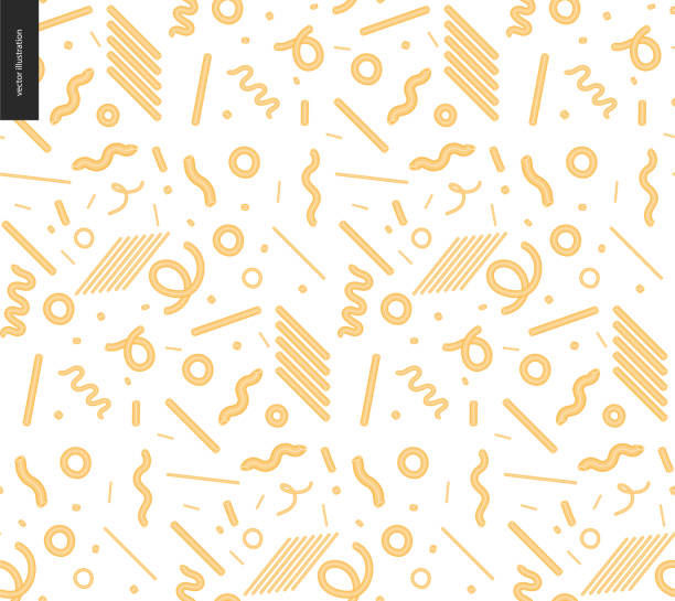 Italian restaurant set Italian restaurant set - pasta seamless pattern on the transparent background pasta stock illustrations