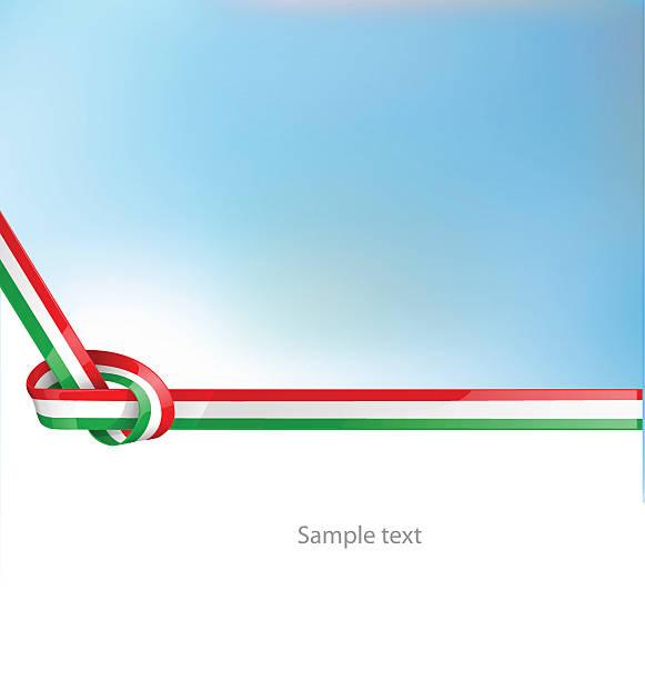 italian ribbon  flag on background vector art illustration