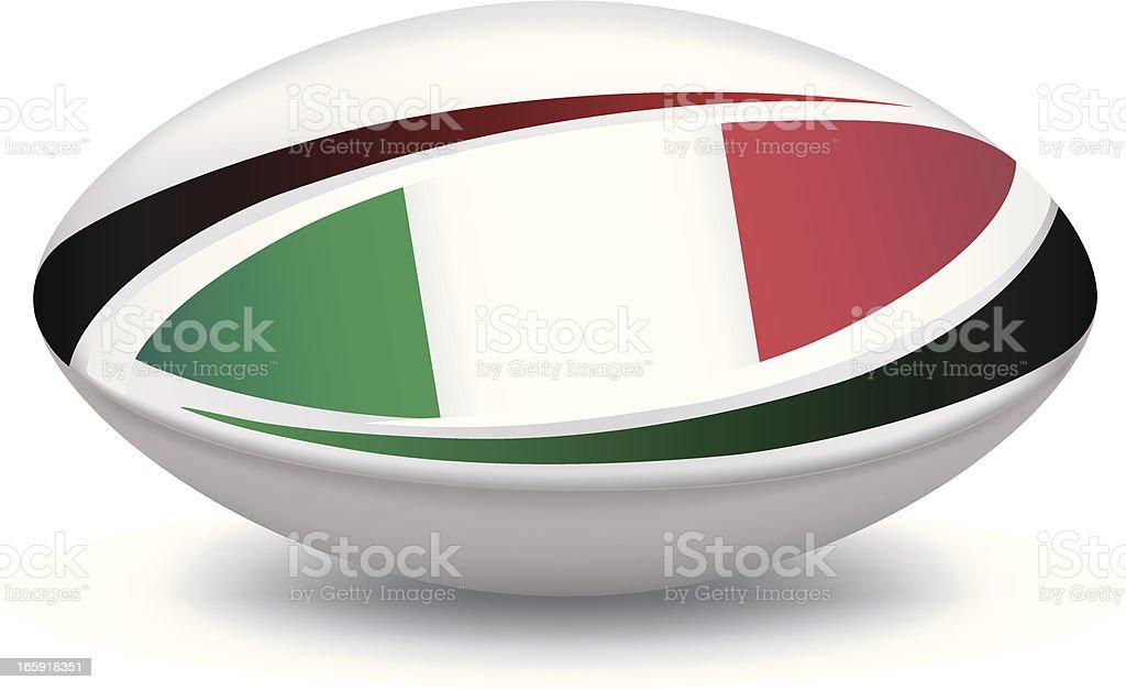 Italian Rugby Ball royalty-free stock vector art